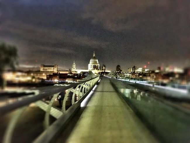 St Paul's Cathedral Milenium Bridge London Architecture Cathedral Street Light Street Photography Fine Art Photography