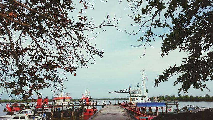Morning in Pangkalan susu Boat Ride Pertamina.ep Work