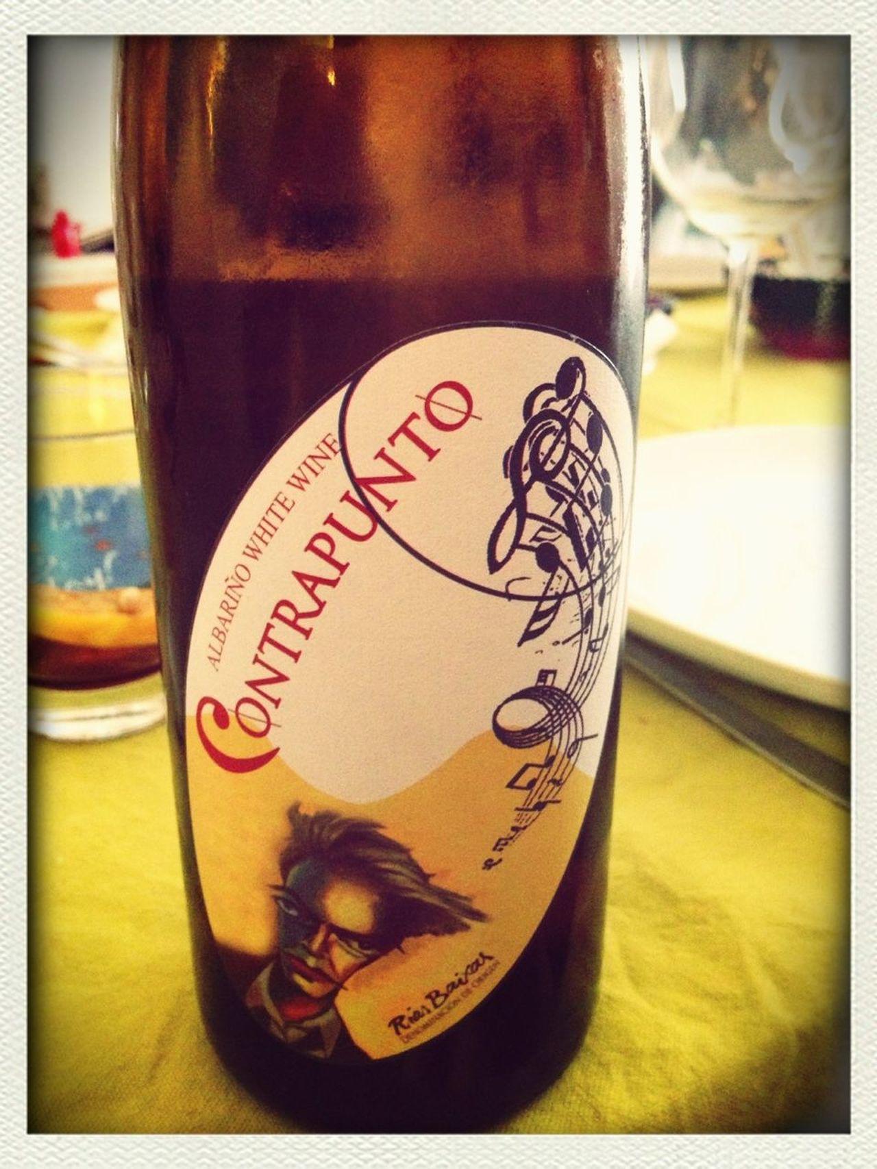 White Wine Wine Label Albariño Contrapunto