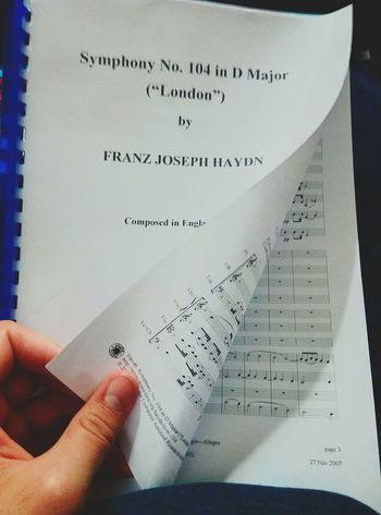 First conducting piece Music Conductor Joseph Haydn Symphony 104