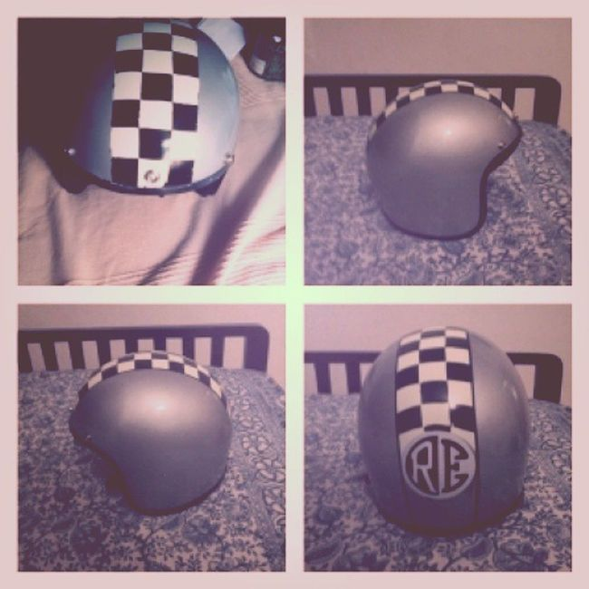Its done! Helmet HelmetArt Custom PaintJob Checks Royalenfield Re DIY