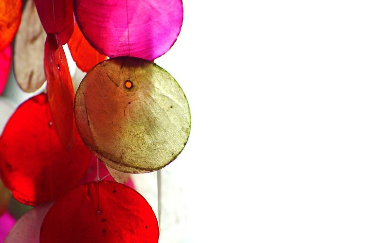 White Background Patterns & Textures Copy Space Hanging Windchimes Colorful Windchimes No People Close-up Red Pink Minimalism Broken Patterns Beach Ornaments Summer Vibes Memories Simplicity State Of Mind  Relaxation Peace Silence Sound Of Silence Solitude Spa Resort And Spa Pamper