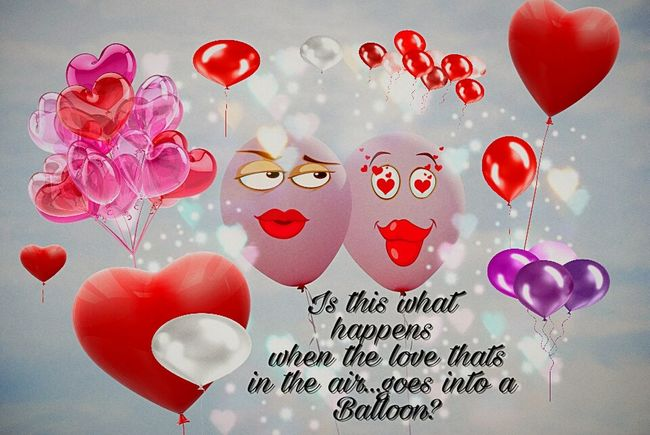 Love In The Air Air In The Balloon Pink Balloons Red Balloons In Love ❤ Heartshape Hearts Heart ❤ Ubu&I'llbme