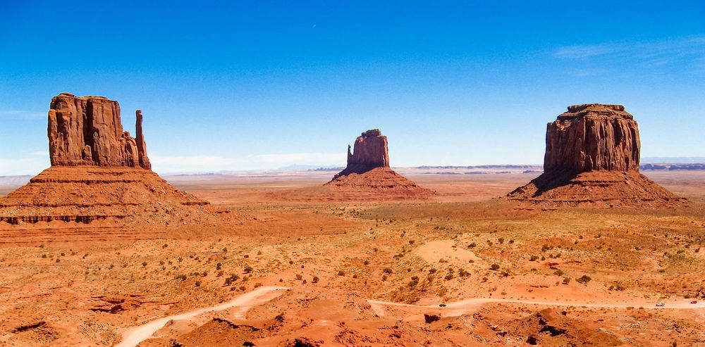 Desert Eroded Geology Landscape Mittens Monument Valley Nature Physical Geography Western USA Geological Formations Eroded Rocks Scenic Landscapes Geological Formation Rocky Landscape USA Wind Erosion The Old West Old West  Rocky Mountains Sandstone Rocks Eroded Mountain Rocky Rock - ObjectRock Formation Sandstone