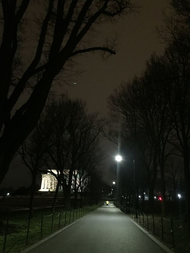 Lincoln Memorial Taking Photos Jogger Winter Walk Nightrunner Latenightwalks Tourists Inner City Life February Iphonegraphy Exploring Washington DC City Life Tree Urban Urban Landscape Urbanphotography February 2016 Iphone 6 Plus IPhone