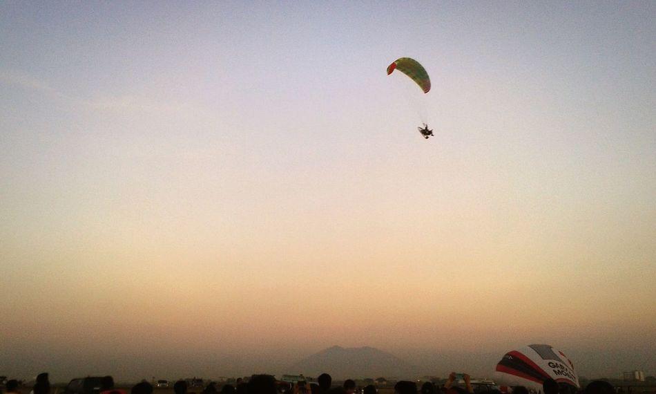 Sky_collection Parachute Flying High Horizon Hot Air Balloon Sunset Sunset Colors Clark,Pampanga Balloonfest Clark Air Base Sky Paragliding Showcase: February Balloonfestph