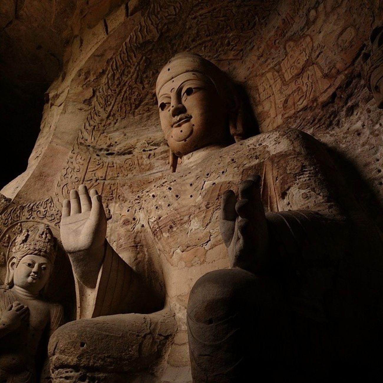 古代中國的奇蹟雲岡石窟 中國 山西 大同 佛
