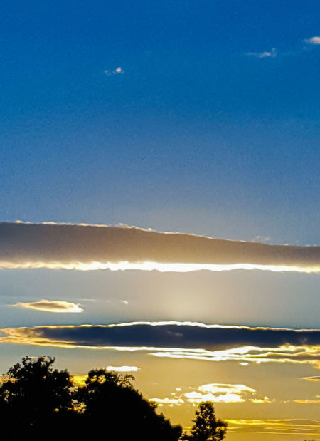 Blue Sky Sunset Beauty In Nature Cloud - Sky