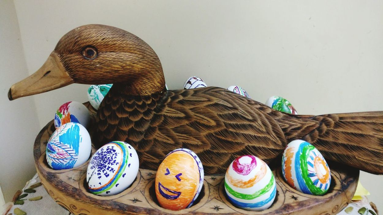 Art And Craft No People Multi Colored Indoors  Easter Day Bird Close-up Easter Eggs Easter Ready Easter Sunday Easteregg Easter Holiday - Event Tradition Art And Craft Painted Image