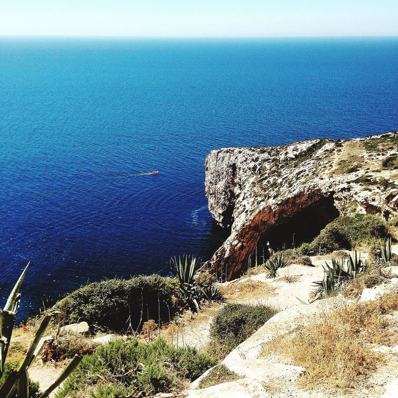 Do I have to take a photo every time I am here? -Yes! Zurrieq Blue Grotto Taking Photos Sea Cliffs Nature Landscape Malta Enjoying The View Walking