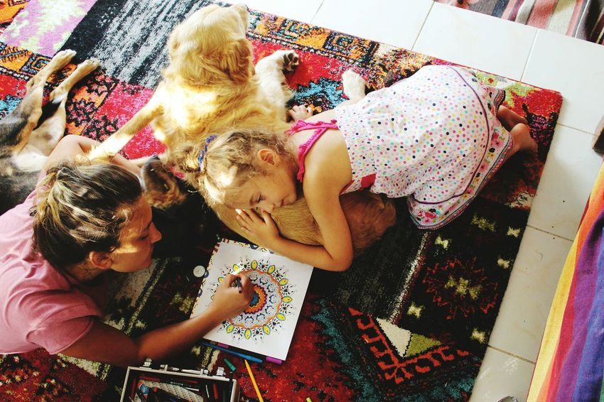 Mandala Mandala Mandalas Mandala Tattoo Mandalachil Chilout Pink Color Children At Play Childrenchorus Childhood Memories Turkeyphotooftheday Nature_collection DogAndChild Indoors  Choice Messy Sack Kids Being Kids Kidsphotography Kids Playing Kids Having Fun Goldenretriever