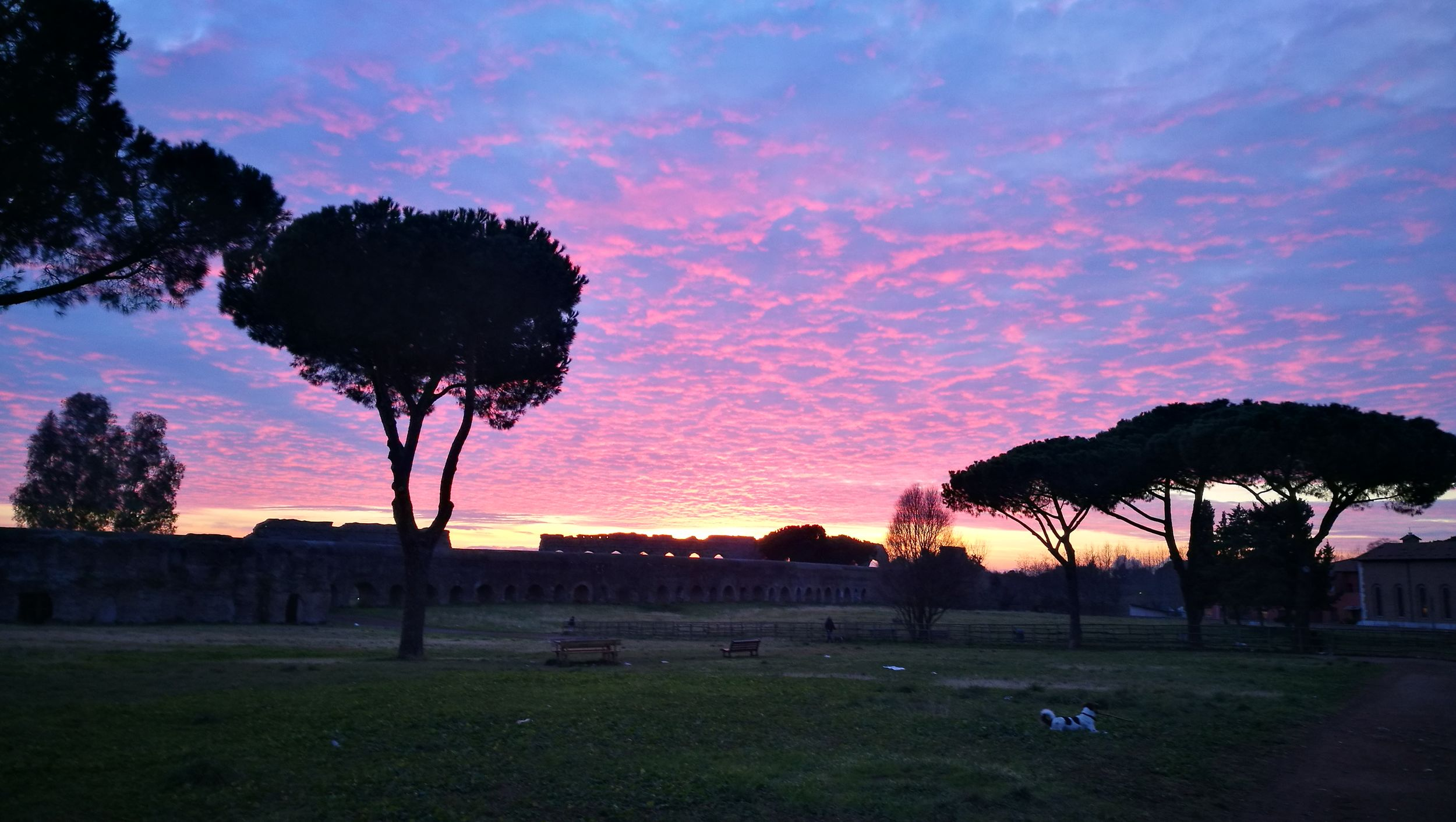 Sunset Silhouette Cloud - Sky Beauty In Nature Outdoors Nature Rome Parco Degli Acquedotti