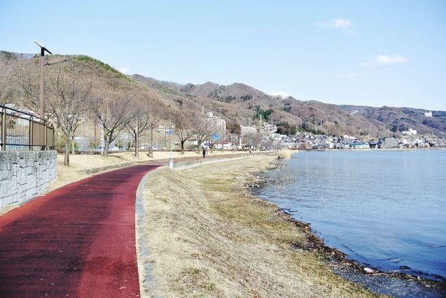 長野県 諏訪市 諏訪湖 遊歩道 Japan Nagano Suwa Lake Suwa Lake