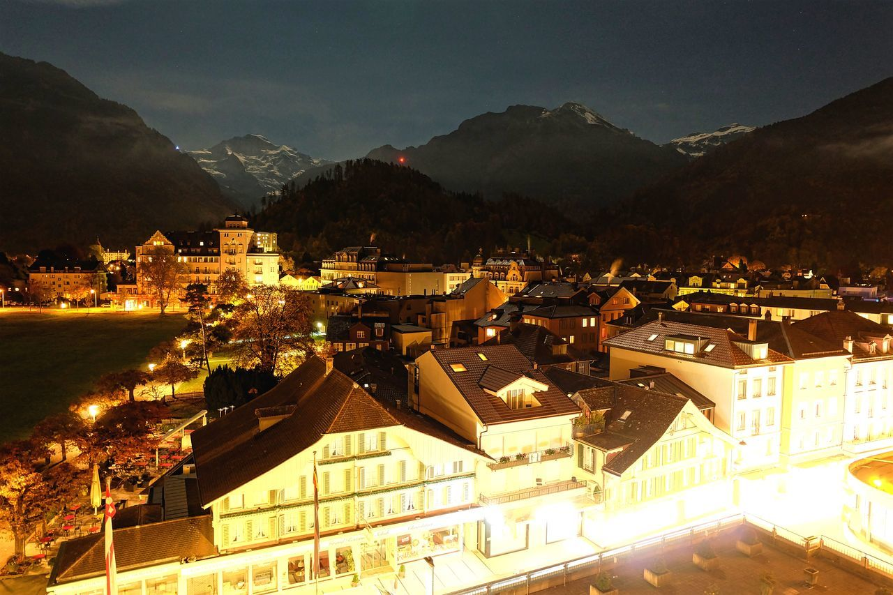 Jungfrau Long Midnight Midnight Interlaken Mountain Switzerland Town Travel Travel Destinations