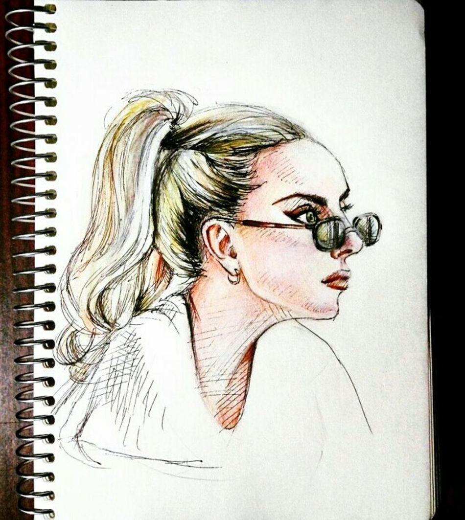 Quicksketch Ladygaga Drawing