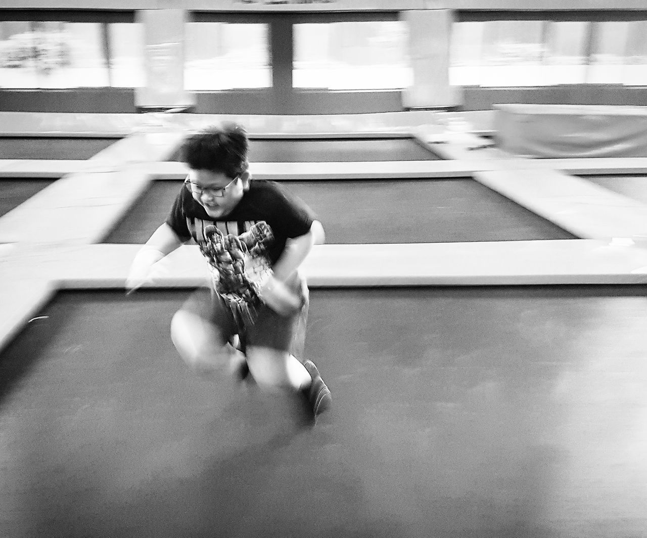 Happy guy in action Sport Indoors  Leisure Activity Sportsman Lifestyles Young Adult Real People People Skill  One Person Samsung Galaxy S7 Edge Child Childhood Children Only Happiness