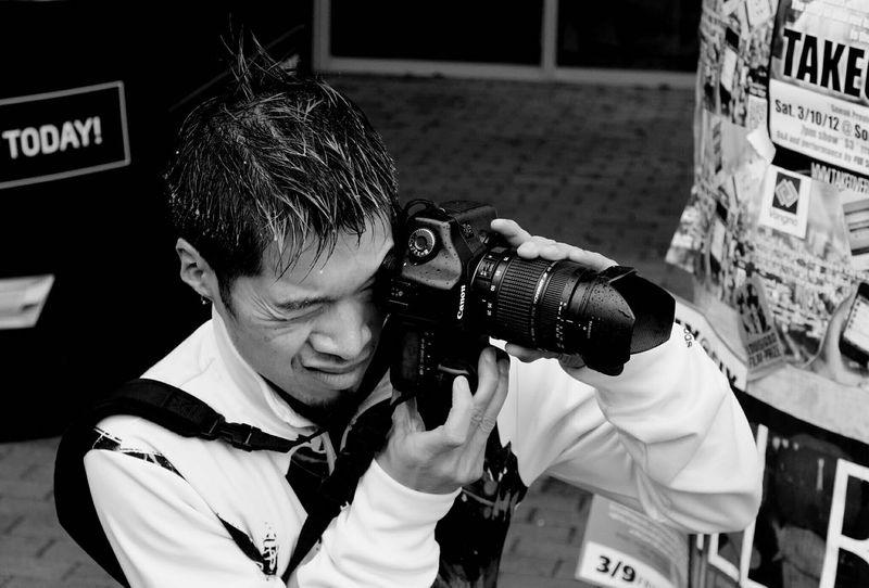 Austin Texas SXSW Photowalk Focused In The Rain Black And White Camera