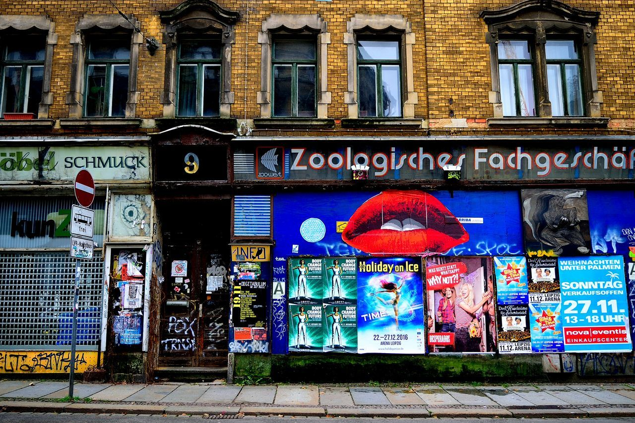 Georg-Schwarz-Straße in Leipzig Apartment Architecture Bar Building Exterior City Clubs Design Designing Dirty Germany Graffiti Leipzig Lips Local Music Nightout Old Buildings Outdoors Store Street Graffiti Streetphotography Travel Destinations Vintage Vivid Youth Culture