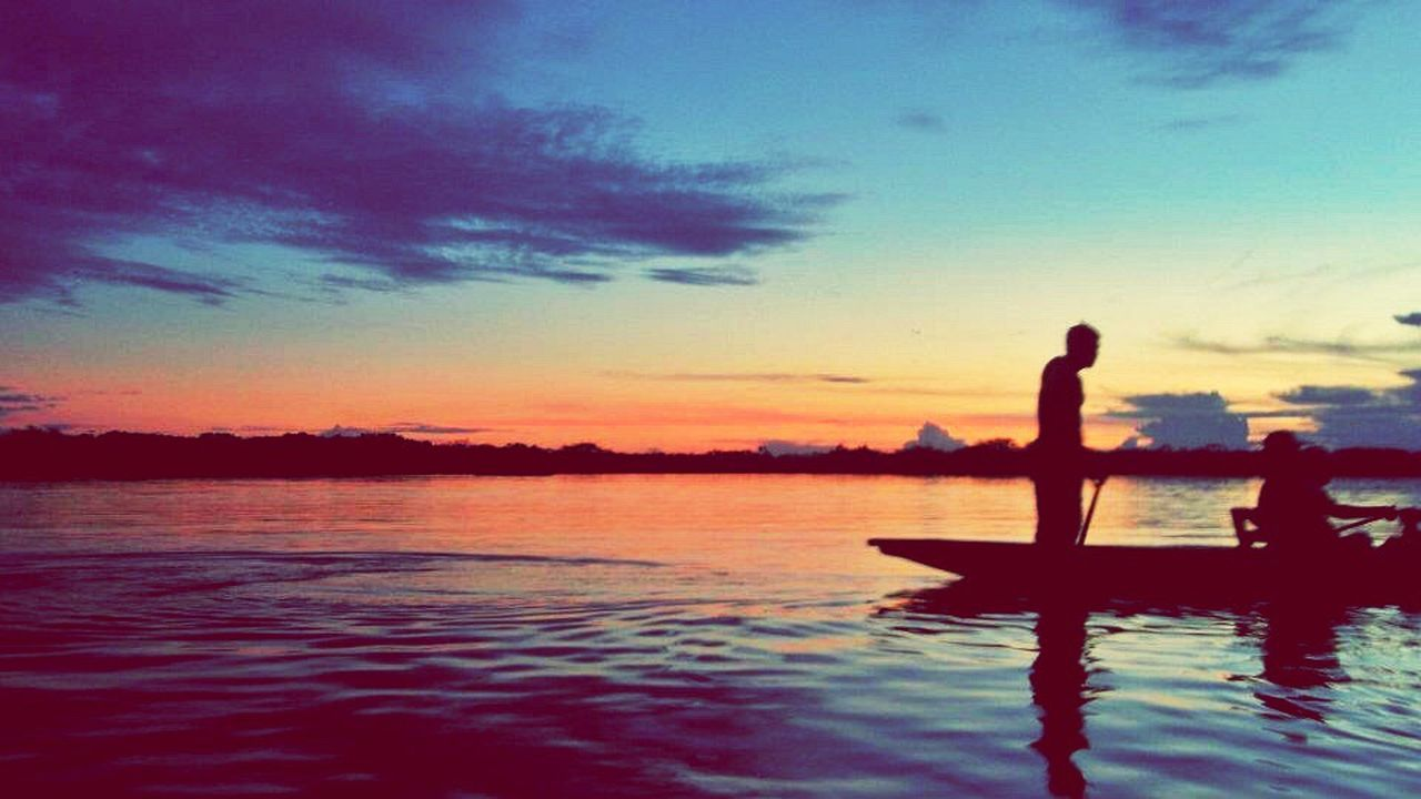 The Great Outdoors With Adobe Traveling Cuyabeno Ecuador Amazon Rainforest Laguna Grande Sunset Amazing View From My Point Of View Canoe Swimming with Piranhas and River Dolphins (;