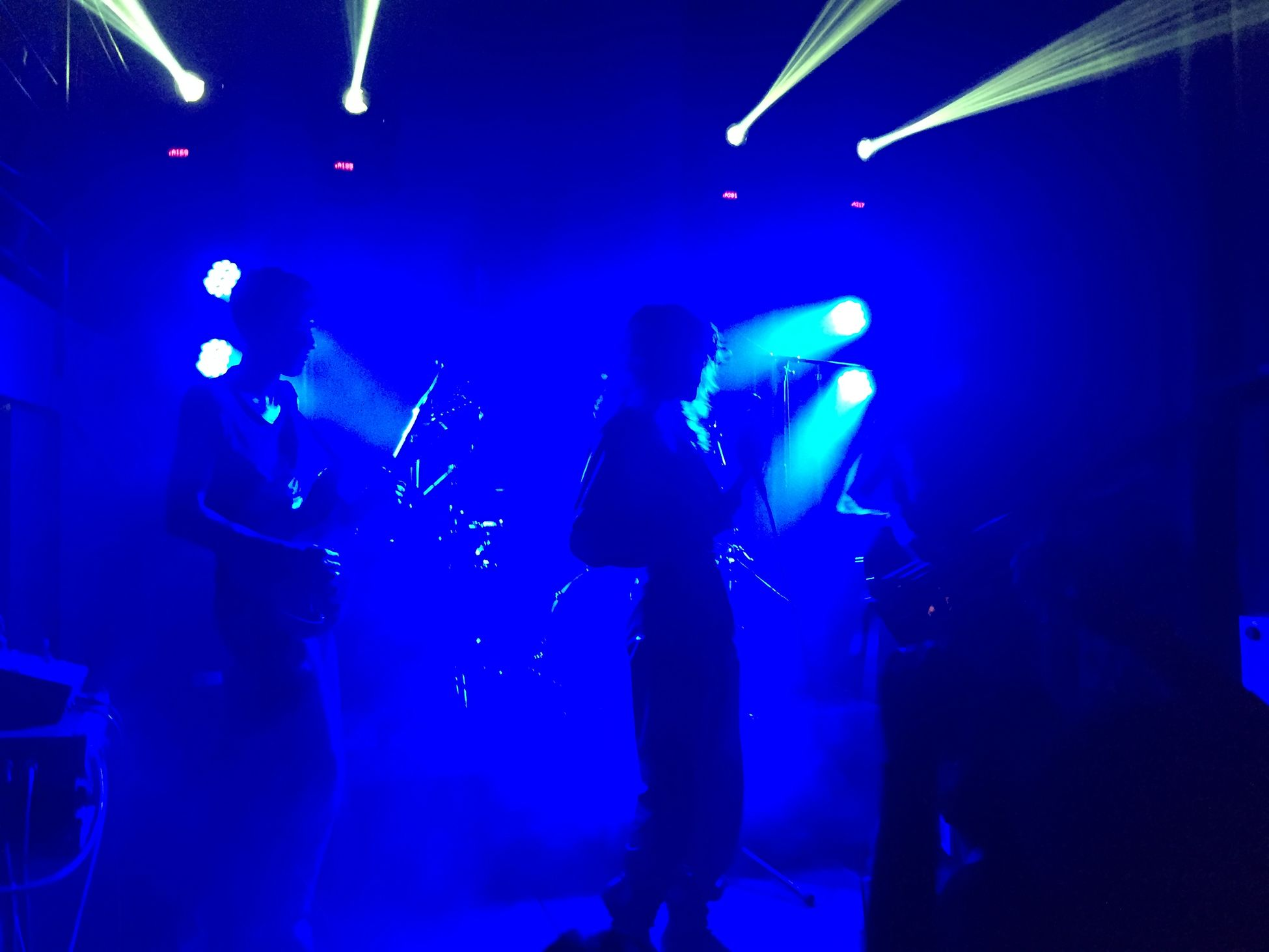 Blue moments. PatternsBand Light And Shadow Music Flow Concert