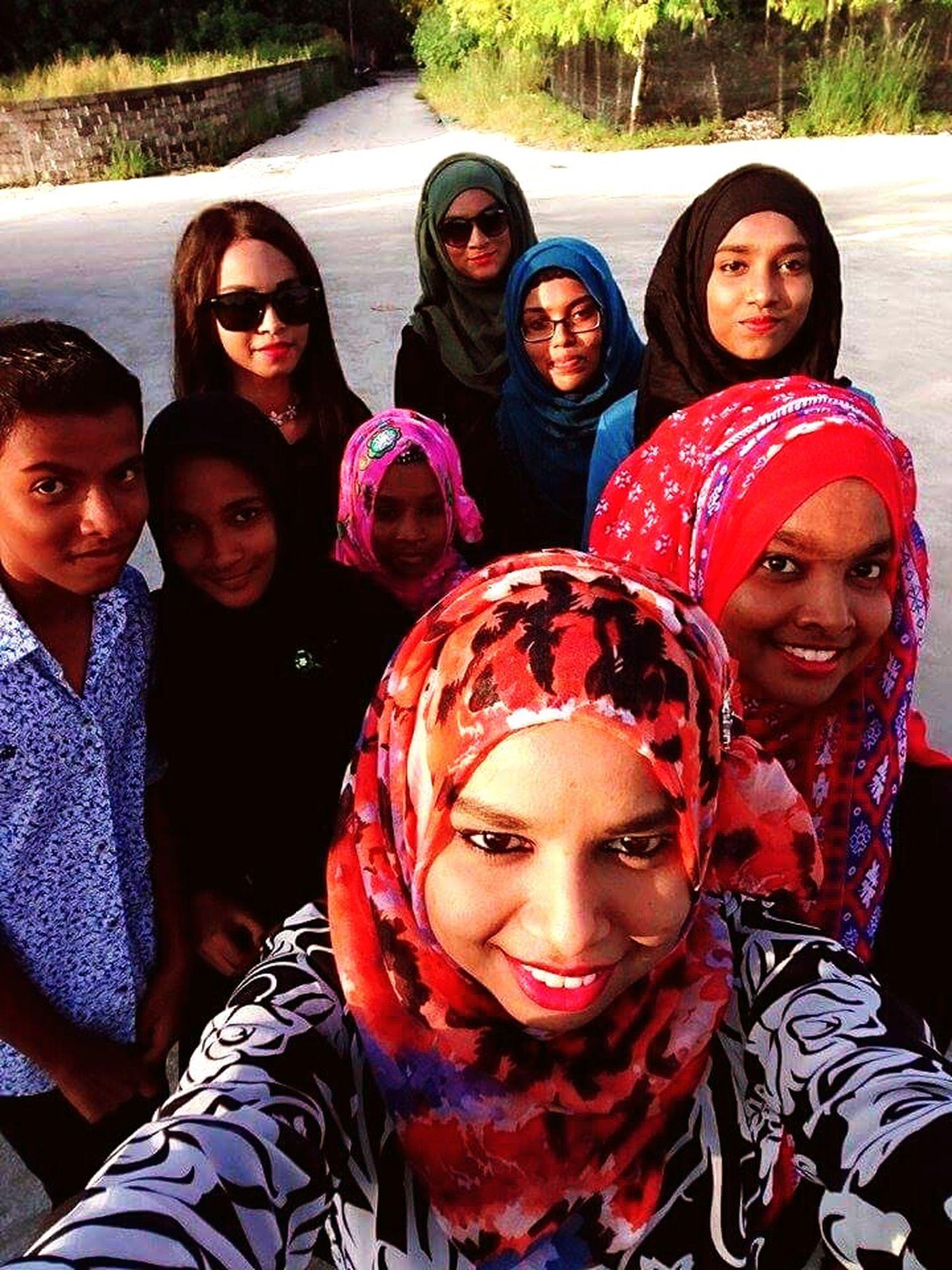 Evening walk. AA.Thoddoo Enjoying Life Taking Photos Happylife Cousins  Selfie ♥ Sunnyday Hanging Out Saycheese Island Life FamilyTime 😘😍