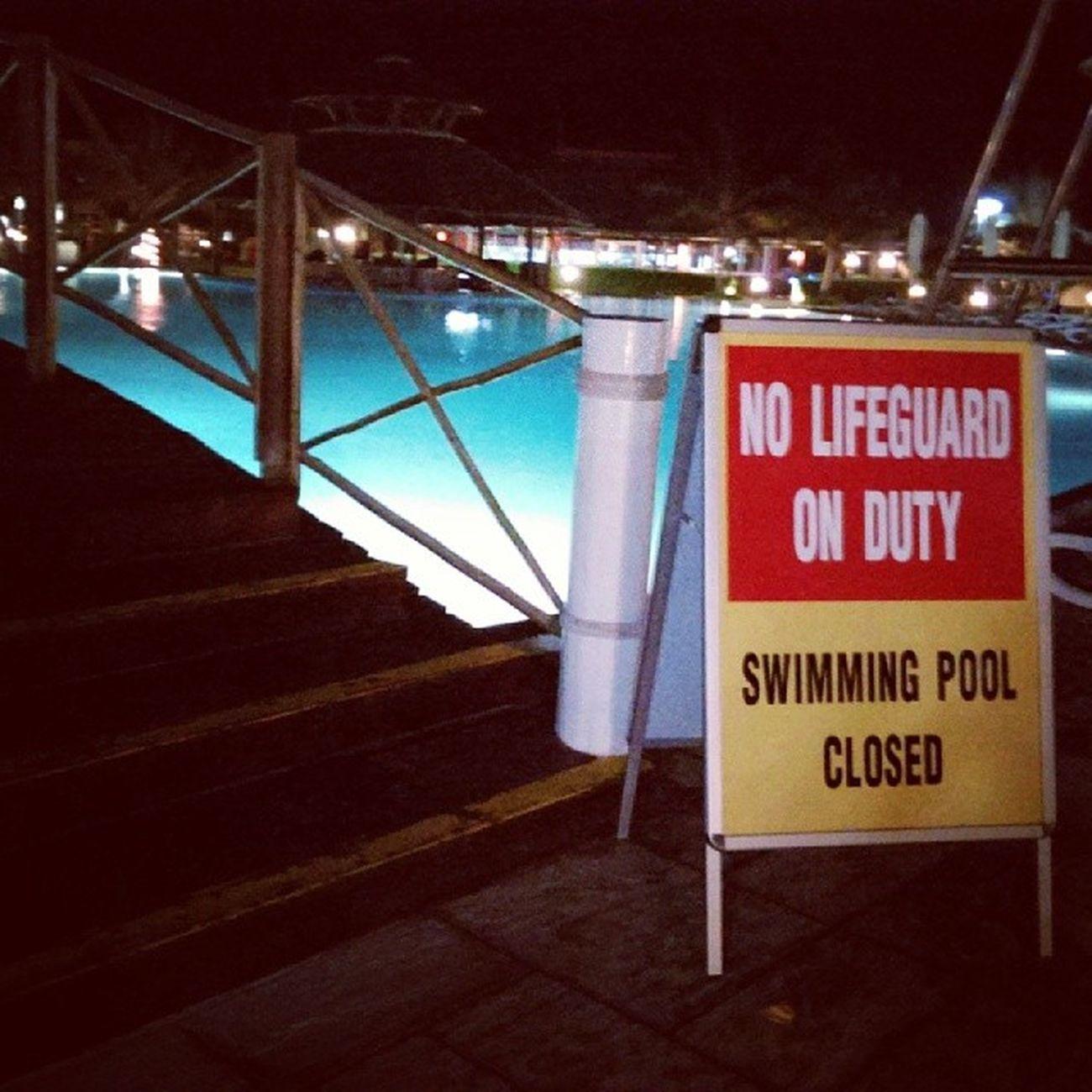 Swimming Pool Water Night Photography uae