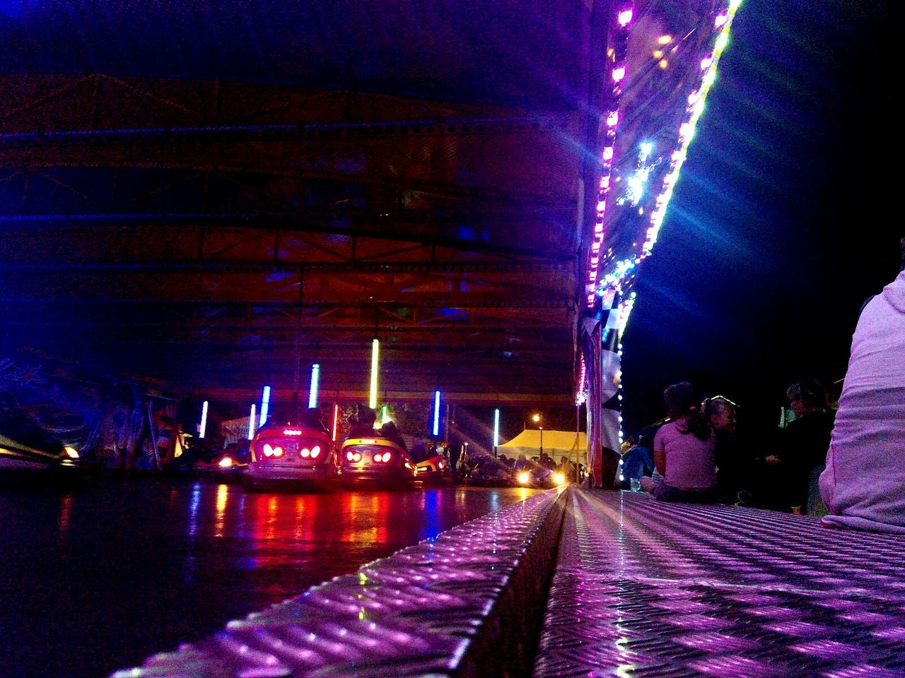 Illuminated Night City Sky Purple The Way Forward Blue City Life Electric Light Nightlife Diminishing Perspective Multi Colored Famous Place Lens Flare Carneval Octoberfest Budapest Budapest, Hungary Play Culture Low Angle View Dodgem Cars Dodgem Dodgems