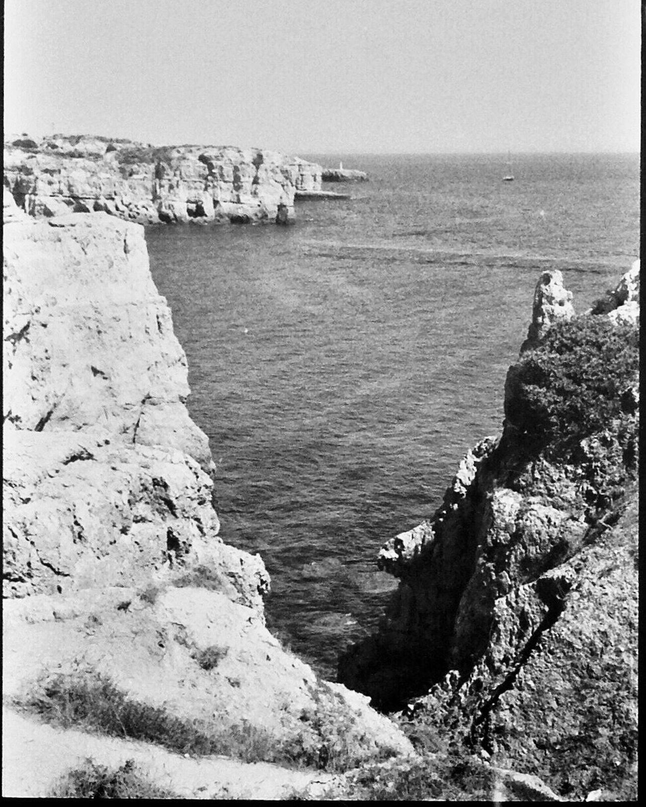 Sea Beauty In Nature Sky 1980s Portugal Blk N Wht Koduckgirl Nikon FE