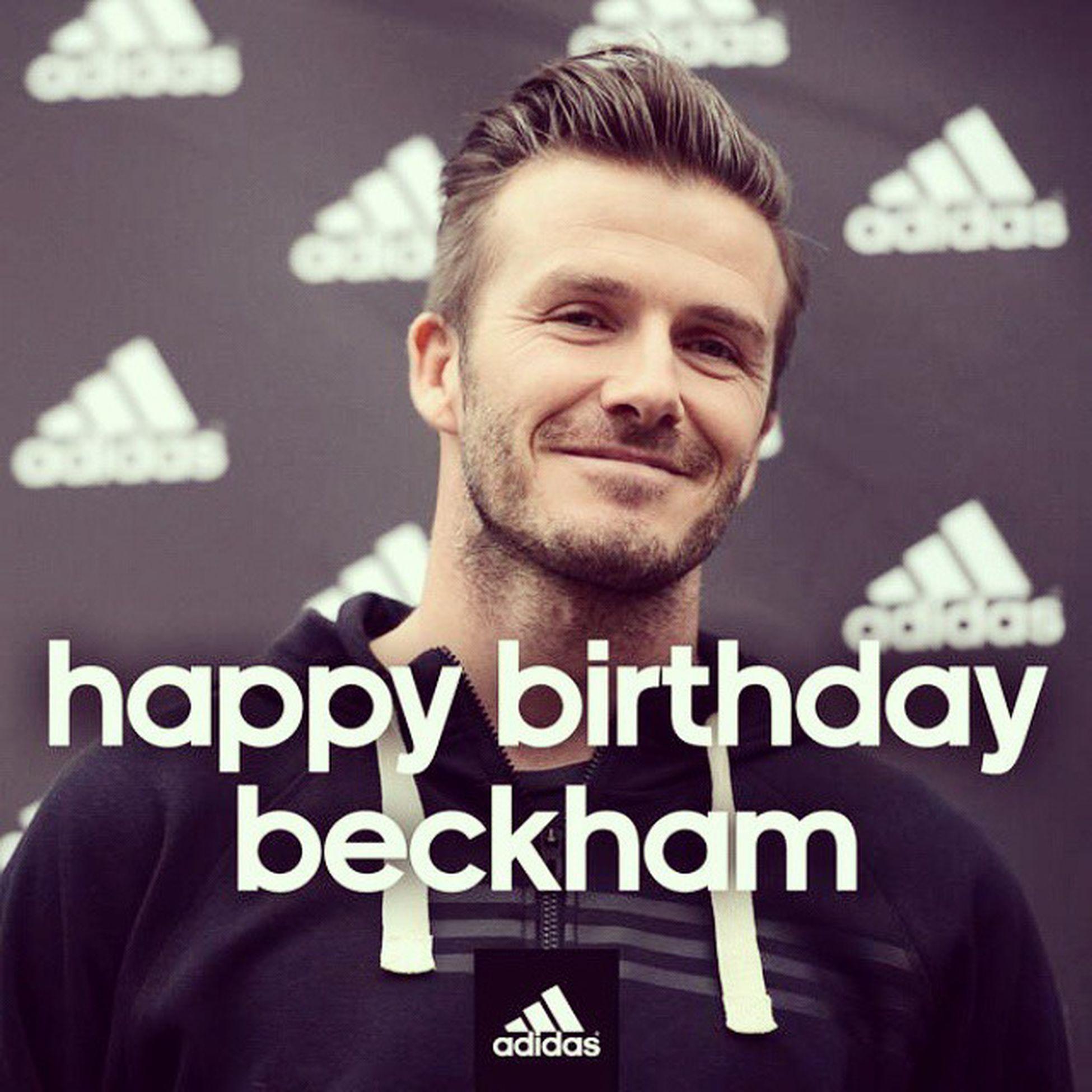 happy birthday Davidbeckham ! DB40 HBD Beckham