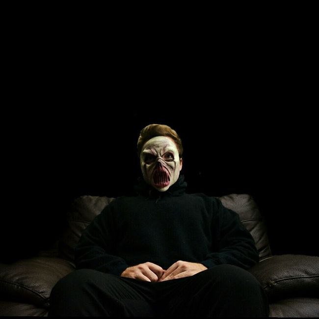 Me, Redding, CA. Scary Scaryface Mask Maskedportraits Masked Man Masked Portrait Halloween Halloween Costumes Sitting Down Masked And Sitting