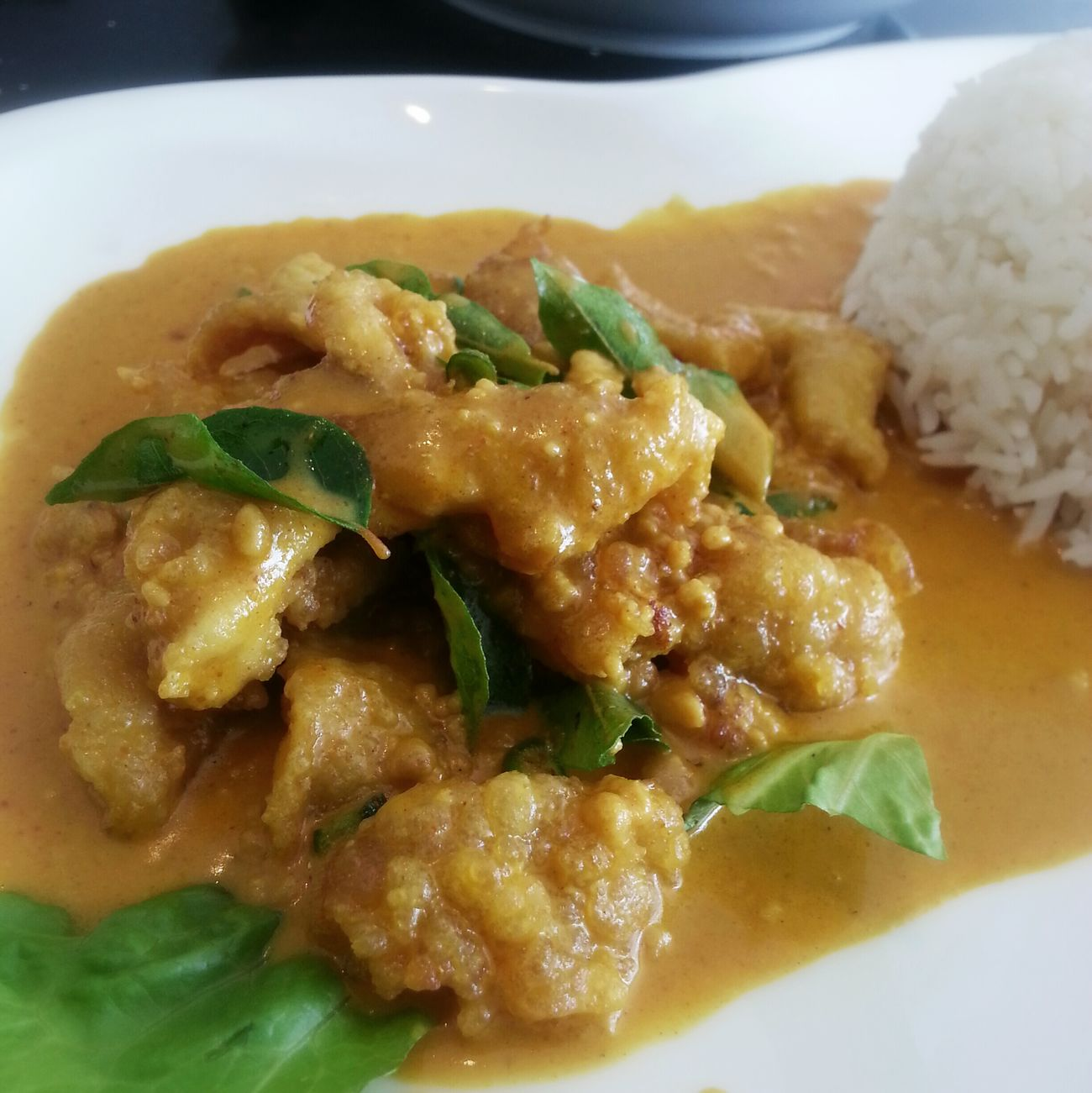 Curry Buttermilk chicken. Brunei Rovansil Lunch