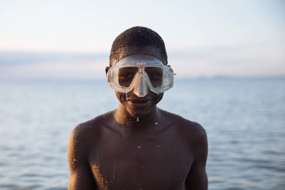 Beautiful stock photos of schwimmen, one person, front view, sea, water