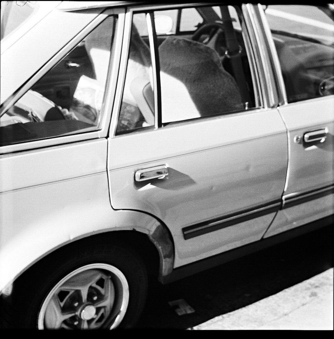 Transportation Land Vehicle Car Film Square 6x6 Blk N Wht Koduckgirl Belair Panorama