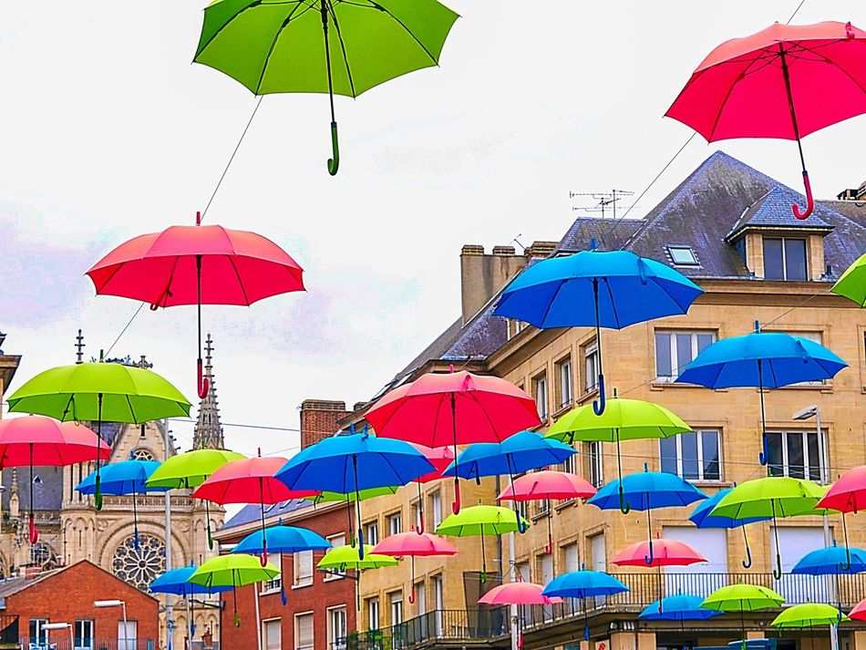 Umbrella Building Exterior Streetphotography Street Photography Street City Urban Street Life Miles Away Umbrellas Colorful Colorful City Colorful Umbrellas The Mix Up The City Light