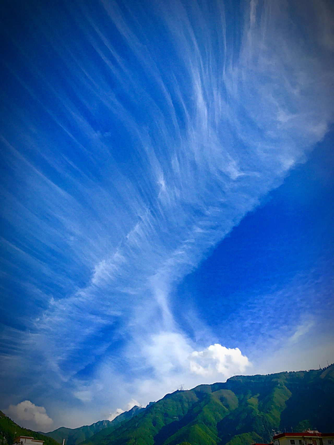 Beautiful sky Blue Sky Beauty In Nature Nature Scenics Tranquil Scene Landscape Outdoors Cloud - Sky Tranquility No People Day Mountain