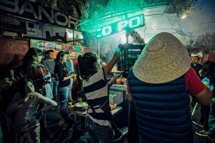 Evening eat out a la mexicano Mexico City Street Photography Coyoacán Mexican Culture First Eyeem Photo