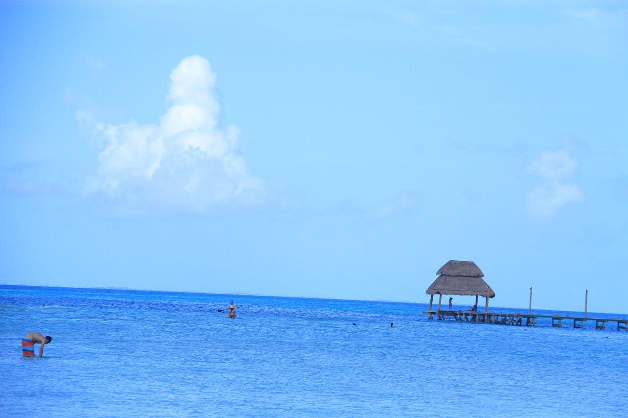 Beach Beauty In Nature Blue Caribbean Caribbean Life Caribbean Sea Caribe Cloud - Sky Day Horizon Over Water Isla Mujeres Isla Mujeres Cancun Isla Mujeres Mexico Mar Caribe Nature Outdoors Playa Norte Real People Scenics Sea Sky Tranquil Scene Tranquility Vacations Water