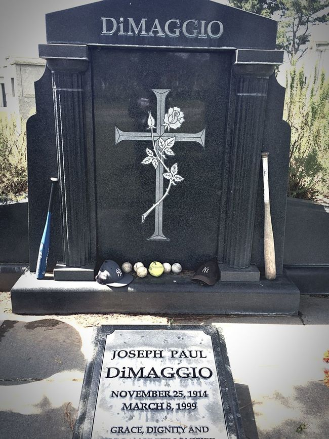 Baseball Immortal Joe DiMaggio's above ground Crypt is the most visited Grave in this Cemetery
