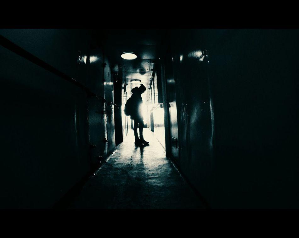 Journey Taking Photos Dark Boy Hello World Exite Hallway Love Fregate Old