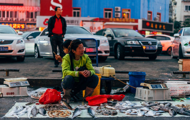 Street market Lifestyles City Street City Life Fish Streetphotography Market China Colors And Patterns