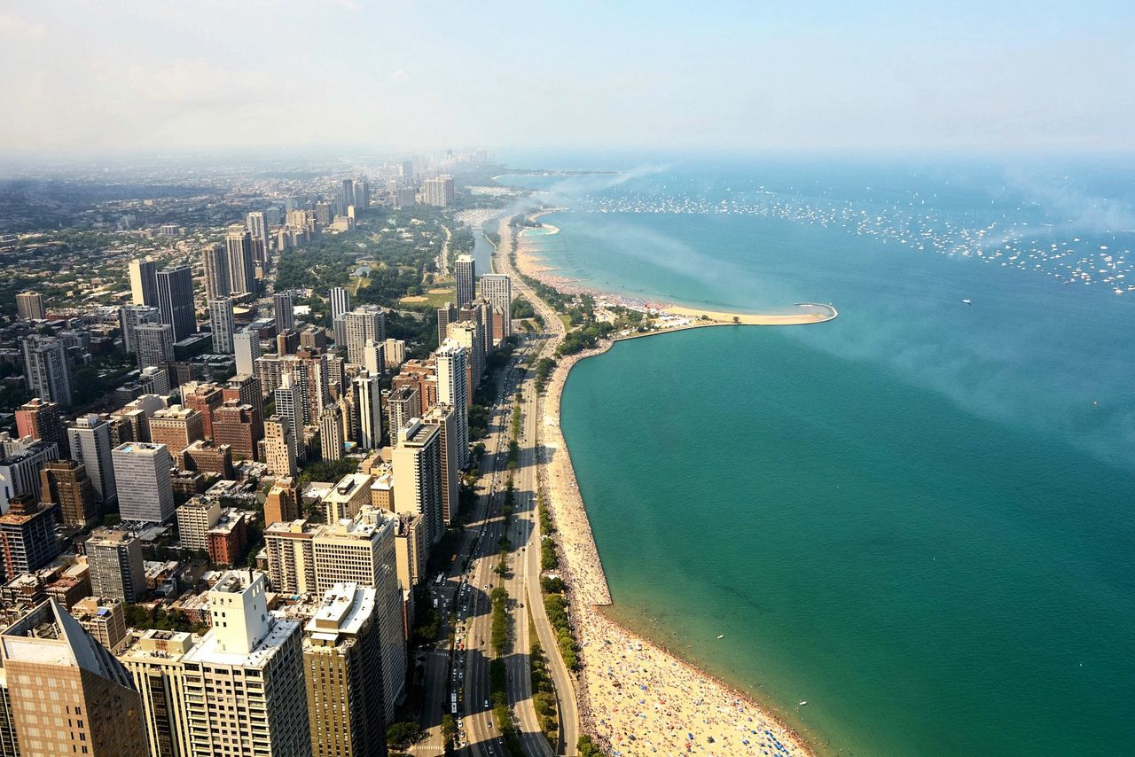 Beautiful stock photos of chicago, Aerial View, Architecture, Building Exterior, Built Structure