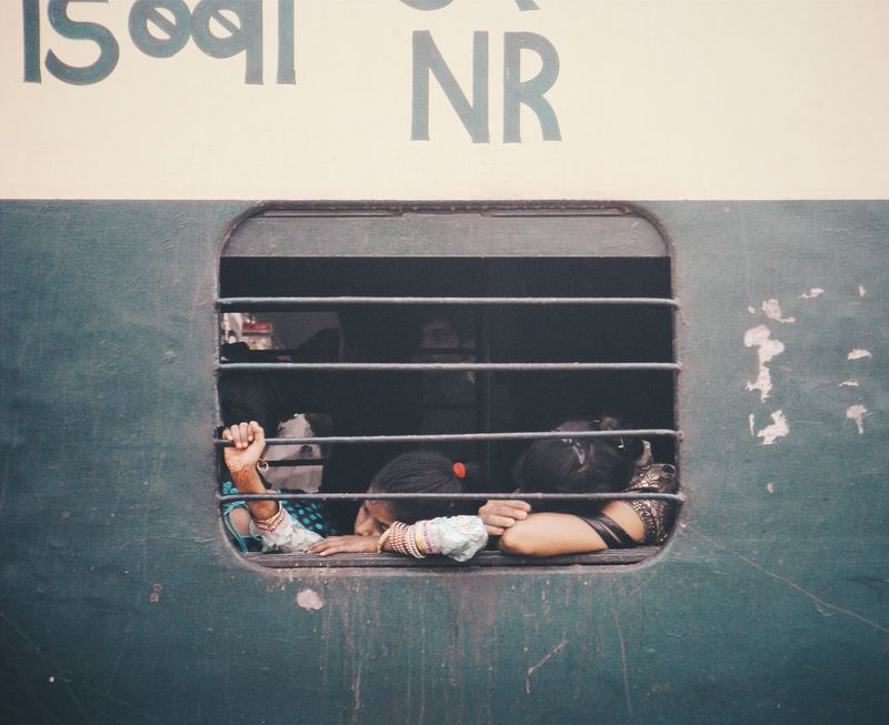 Railway Train  Relaxing The Small Window Tired! Trying To Sleep The Other Side Windows_aroundtheworld Hold On Tight Feel The Journey On The Way Two Is Better Than One