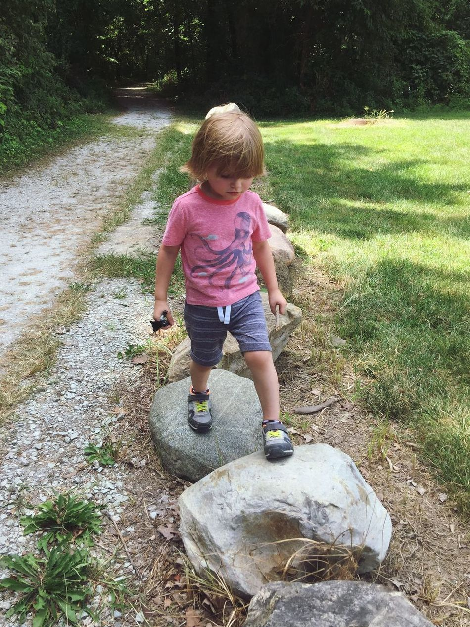Childhood Portrait Of A Toddler Child Innocence Full Length Cute Footpath Trail Rock Rocks Day Outdoors Tadaa Community The Way Forward Nature Is My Best Friend Nature Tree Grass Walk This Way