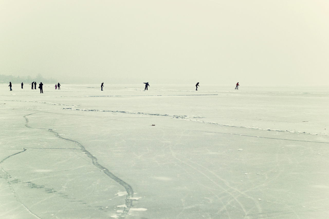 Freshness From My Point Of View Frozen Frozen Lake Frozen Landscape  Frozen Nature Frozen Water Frozen World Group Of People Ice Field Ice-skating IceField Lake Balaton, Hungary Out Outdoor Activities Outdoors Skating Winter Winter Outdoor Atmosphere Winter Sports Wintertime