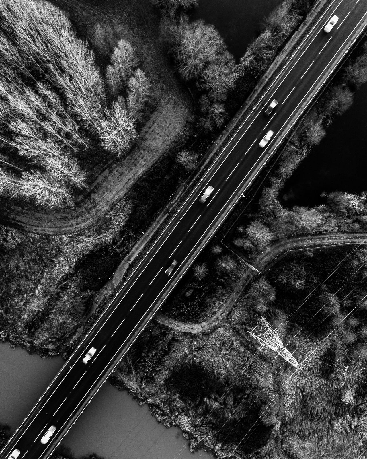 B&W Dji Aerial View Urban Geometry Epic Drone  Phantom 4 Aerial Aerial Photography Architecture Dronephotography Road High Angle View Beauty In Nature Flying High