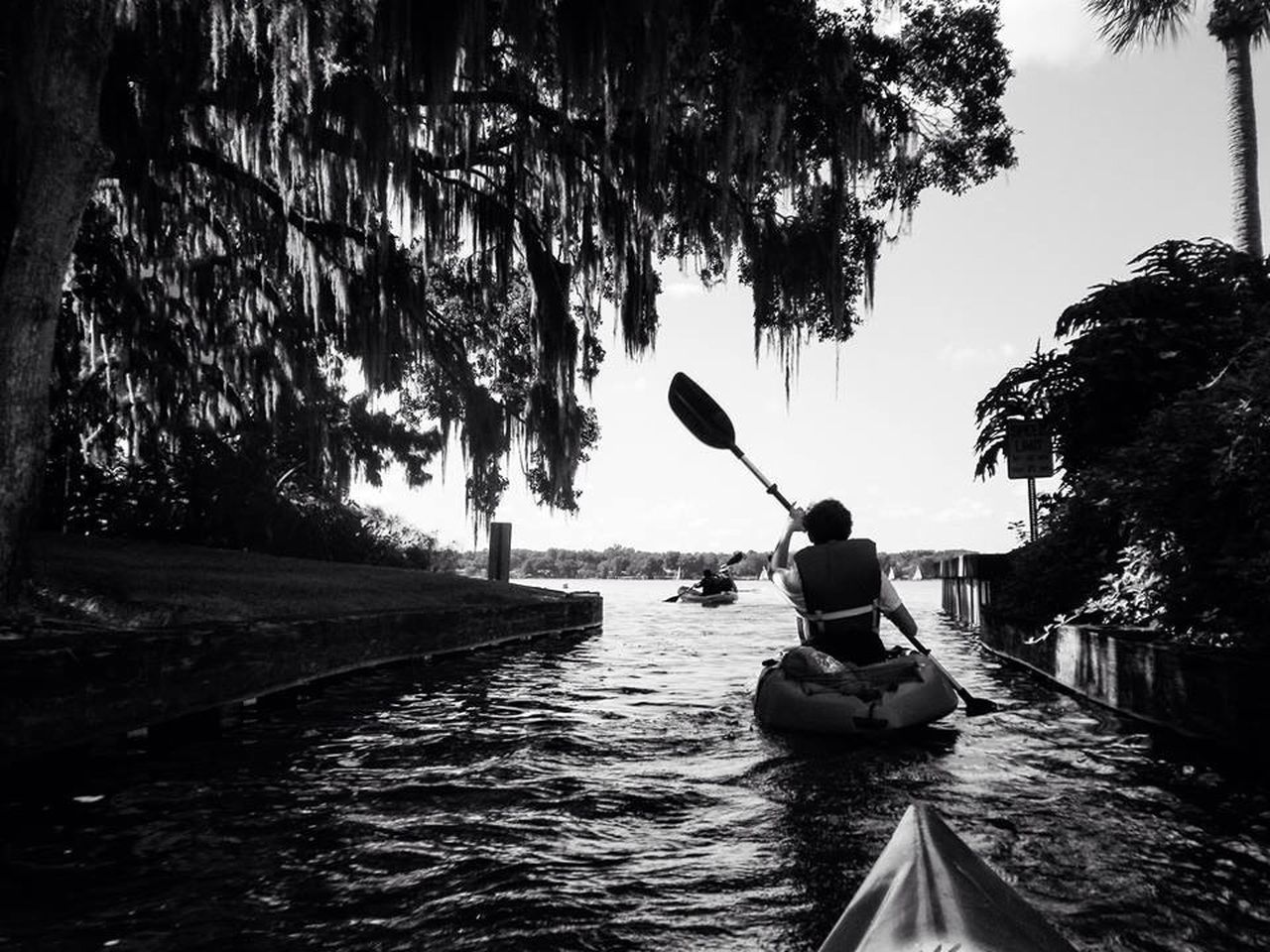 Tourist Kayaking In Canal