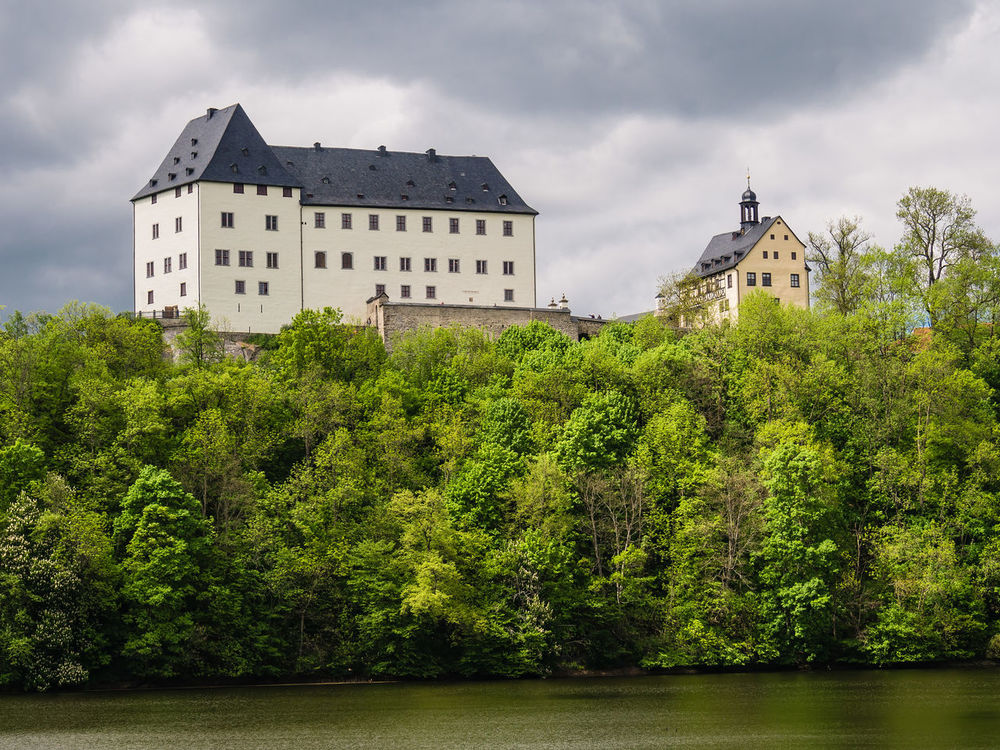 Castle Burgk in Thuringia, Germany. Architecture Building Exterior Built Structure Burgk Castle City Cloud - Sky Day Forest Lake Nature No People Outdoors Sky Thuringia Trees
