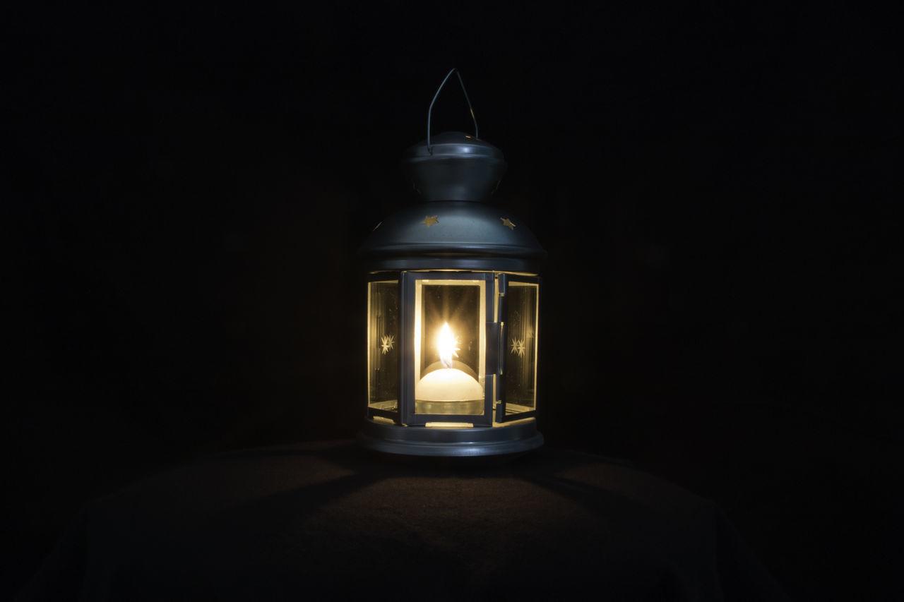 Let your light shine Black Background Candle Darkroom Flame Illuminated Lantern Lighting Equipment Shadow Shine Studio Shot