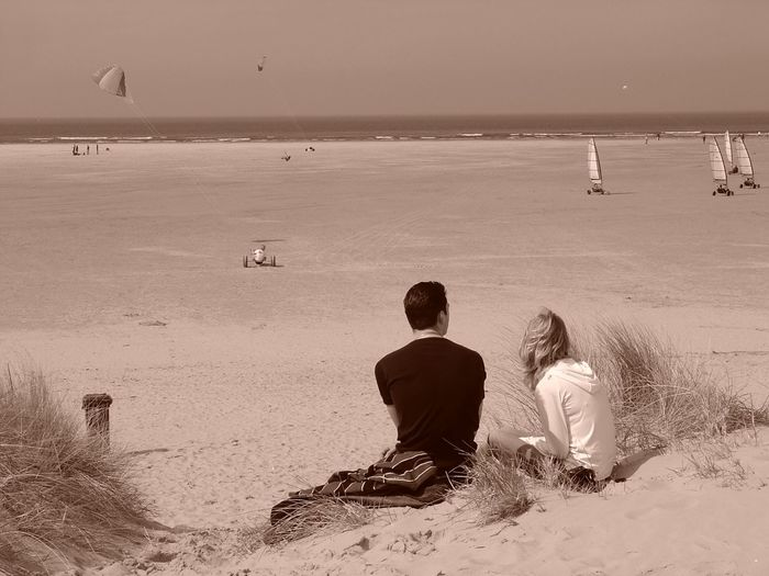 People Of The Oceans ]Relaxation Sand Sea Sepia Sepia_collection Shore Tou[a:beach [Black And White wDunes [Idyllic [Leisure Activity Lifestyles rOutdoors My Year My View Live For The Story Connected By Travel