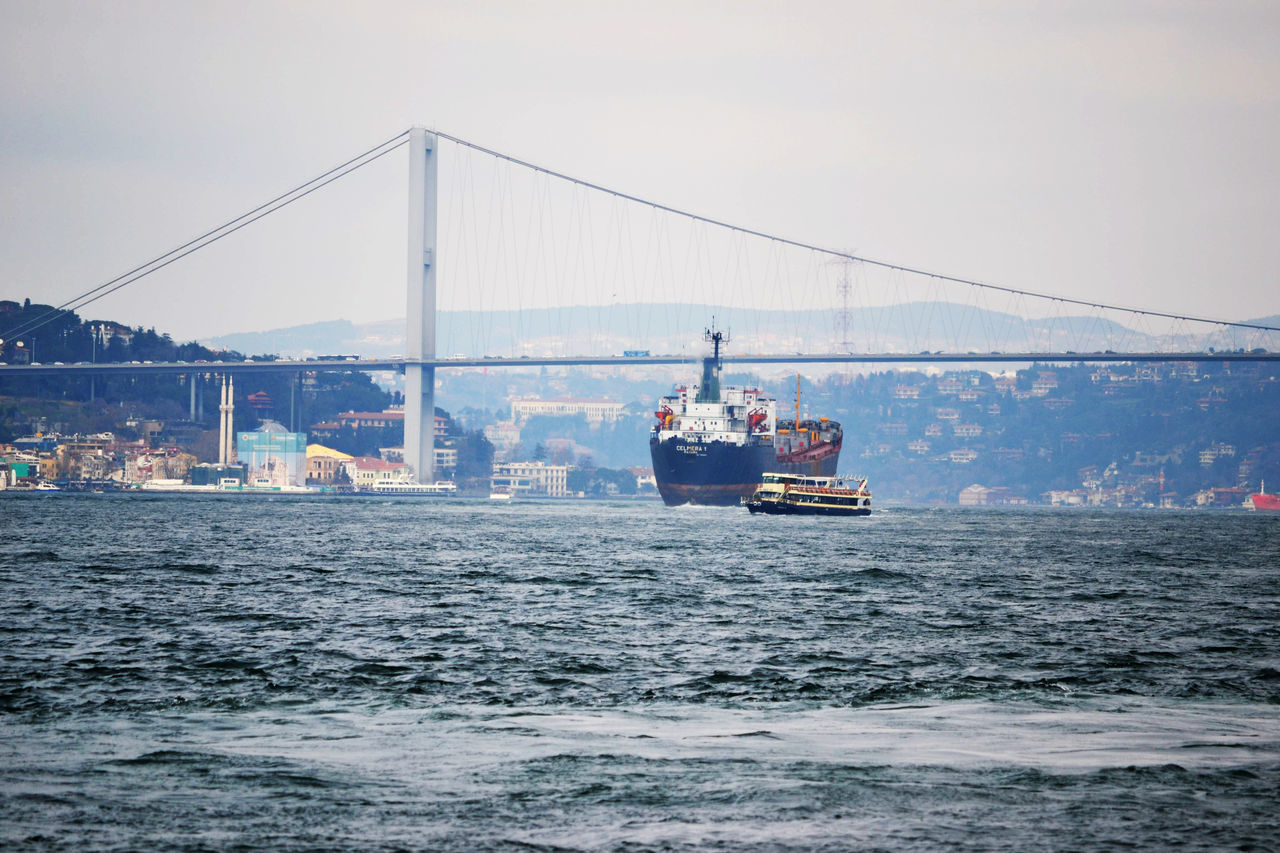 Architecture Boat Boshphorus Bridge - Man Made Structure Built Structure Connection Day Engineering Ferry Golden Horn Istanbul Mode Of Transport Nature Nautical Vessel River Sailing Sea Sky Suspension Bridge Tourism Transportation Travel Travel Destinations Water Waterfront